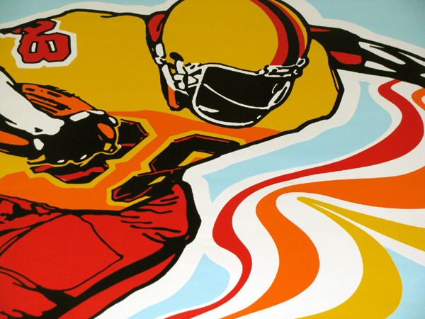 Atari Football Sideart Detail