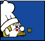Vector Artwork of Food Fight White Hat Chef