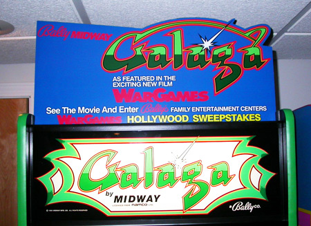 Galaga War Games Header Mounted 1