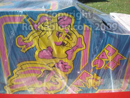 Ms. Pac-man shrink wrapped and leaving