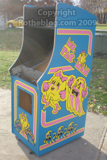 Final Ms. Pac-man cabinet stenciled #2