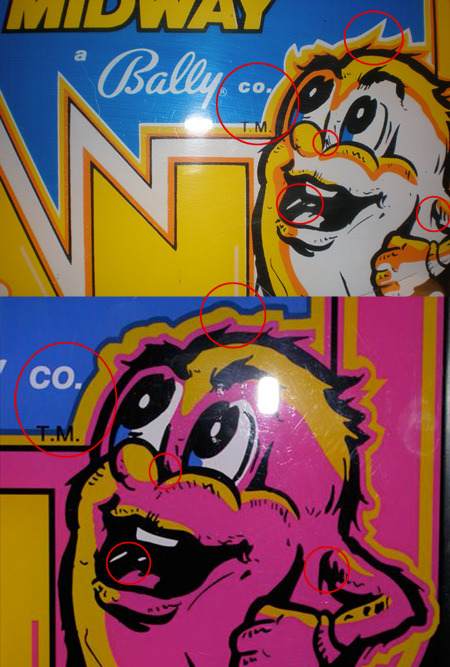 Ms. Pac-man Reproduction Comparison - Ghost