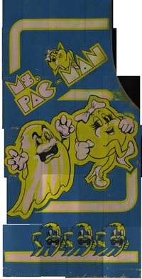 Ms. Pac-man Sideart Scan Left Side