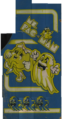 Ms. Pac-man Sideart Scan Right Side