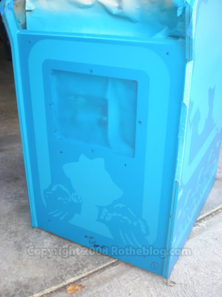 Full Cabinet Ms. Pac-man All Stencils Applied