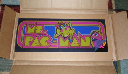 Two Bits Ms. Pac Marquee Packing