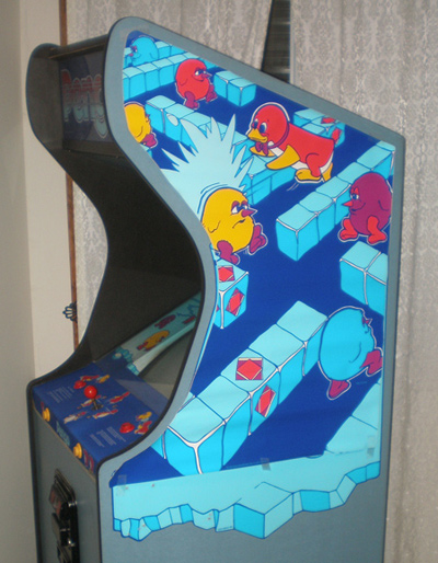 Pengo Cabinet Artwork Taped Up