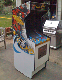 Mr. Do's Castle White Bootleg Cabinet 2 - Time Pilot?