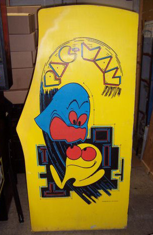 Pac-man arcade cabinet right side
