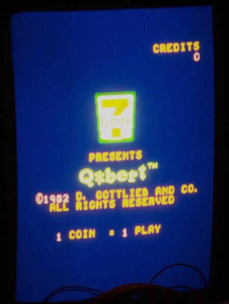 Q*Bert 7-11 Screenshot