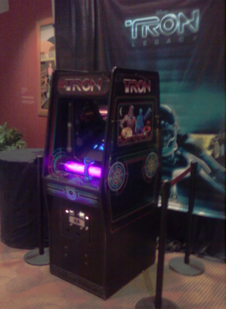 Tron Arcade Game at Indiana State Museum