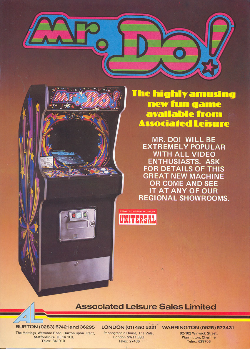 Mr. Do! Associated Leisure Flyer - Zaccaria Cabinet