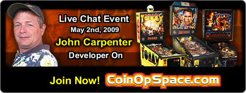John Carpenter Live Chat at Coinopspace.com