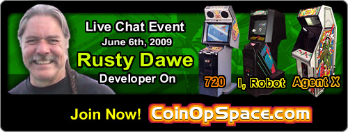 Russel 'Rusty' Dawe Live Chat at Coinopspace.com