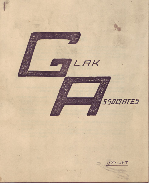 Glak Associates Logo - Front Page of Schematic