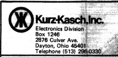 Kurz-Kasch Address Detail
