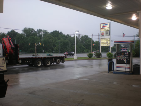 Rain at Gas America Westfield, IN