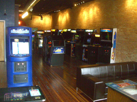 Inside the Arcade Game Museum in McLean, IL