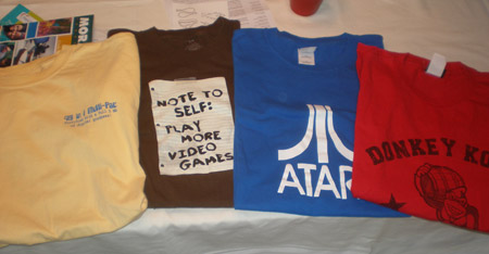 Group of Arcade Game Tshirts