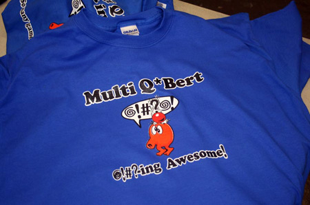 Multi Q*Bert Game Release Special Edition Shirt 1