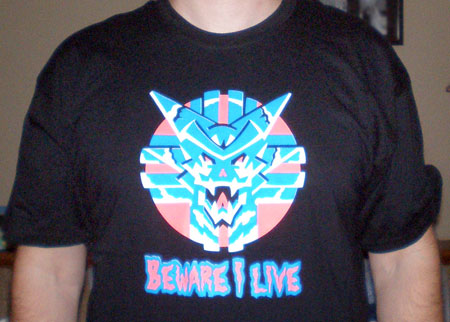 Sinistar Blacklight Retro Arcade Shirt