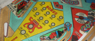 Close up of Little Chief Playfield