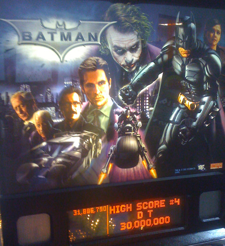 Stern's The Dark Knight Pinball Machine Backglass Translite
