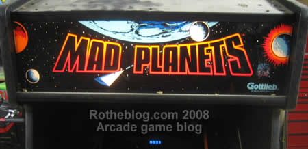 Mad Planets Marquee Lit Up