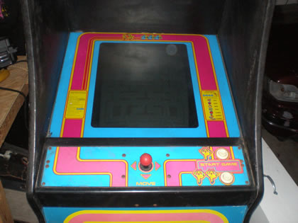 Bezel back in Ms. Pac-man Cabinet
