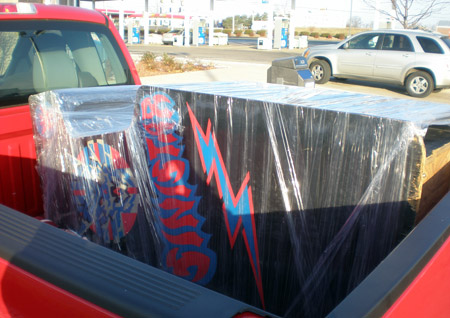 Sinistar wrapped in the truck