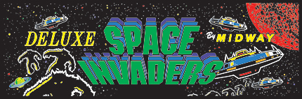 Space Invaders Deluxe Marquee