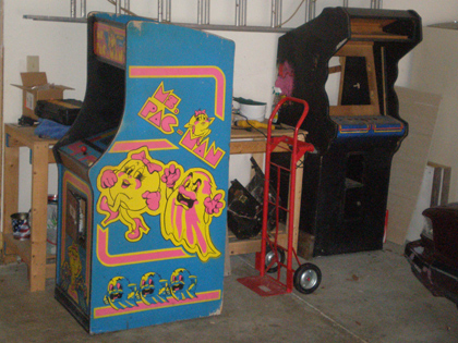 Food Fight Cabinet and second Ms. Pac-man
