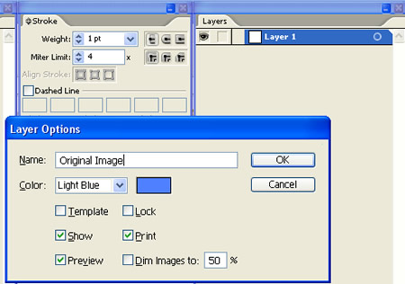 Rename Layer for Artwork Scan