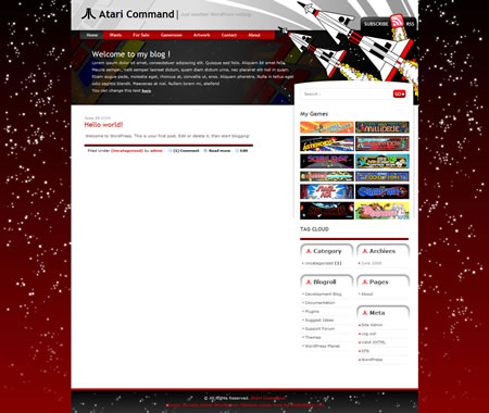 Atari Command Free WordPress Theme