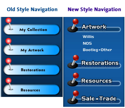 Navigation before and after