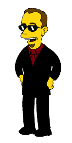 Jeff Rothe as a Simpsons character