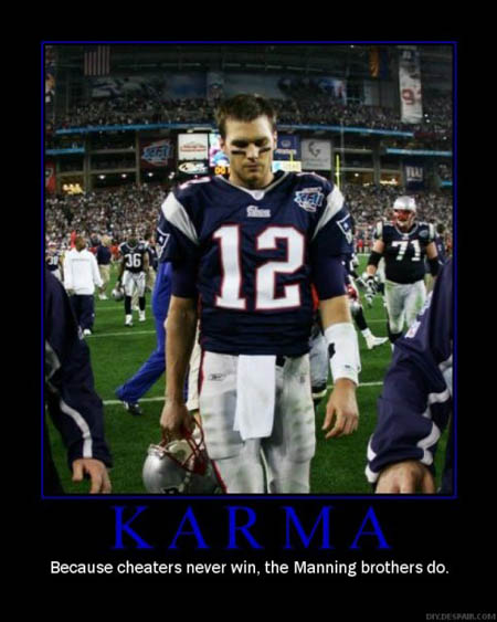Tom Brady De-Motivational Poster - Karma