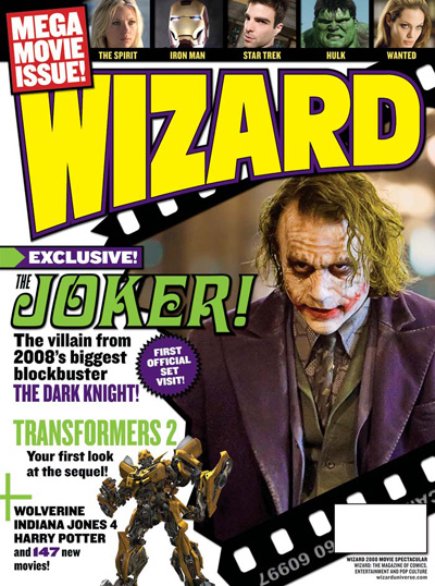 Dark Knight Joker Wizard Cover Dec. 2008