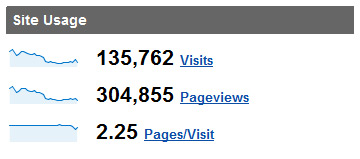 Google Analytics Traffic August 2008