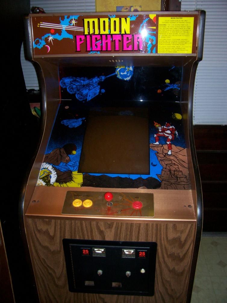 Moon Fighter by Omni - Woodgrain Cabinet